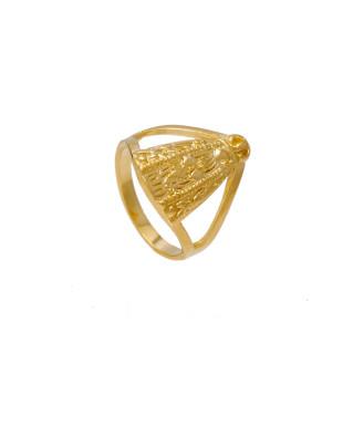 Anel Dourado Nossa Senhora Folheado em Ouro 18K