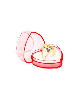 Caixinha de acrilico para anel em formato de coração