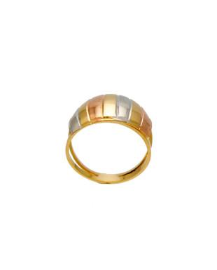 Anel ondulado modelo escravo folheado em ouro 18k