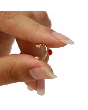 Piercing de Pressão Cartilagem Ponto de Luz Folheado em Ouro 18K